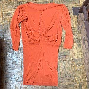 NEW Rachel Pally Orange Open Back Dress XS